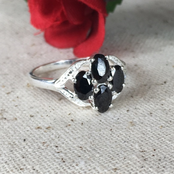 Kaki Jo's Closet Jewelry - CZ Black Diamond Sterling Silver Ring